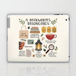 A Bookworm's Belongings Laptop & iPad Skin