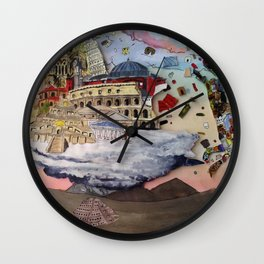 Architecture made man Wall Clock