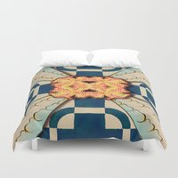 zentangle Duvet Covers featuring Zentangle by Trevor Seymour