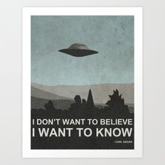 I Want to Know Art Print