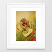 toilet Framed Art Prints featuring TOILET by XA-BCN