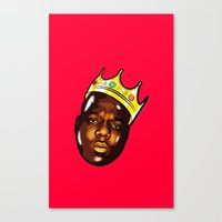biggie Canvas Prints featuring Biggie by Sulaiman aldaham