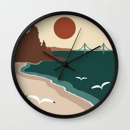 Minimalist Michigan Vintage Sunset Wall Clock