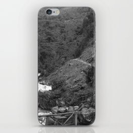 Alpine Bridge Adventure B&W iPhone Skin