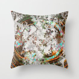 circled partitions Throw Pillow