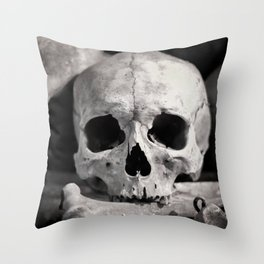 Skulls And Bones Throw Pillow