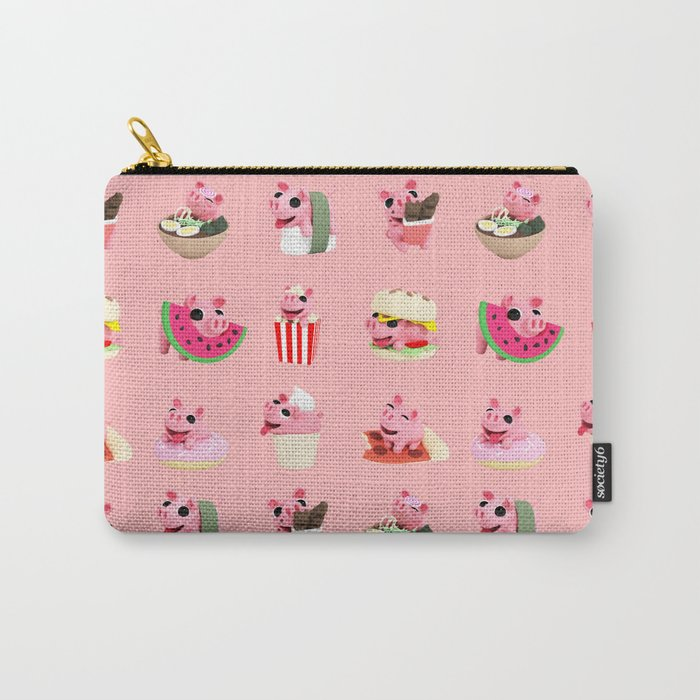 Rosa food collage pink Carry-All Pouch