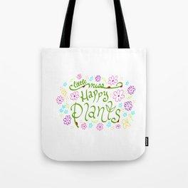 Little Miss Happy Plants Tote Bag