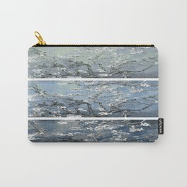 Vincent Van Gogh : Almond Blossoms Panel Art Blue Steel Teal Carry-All Pouch