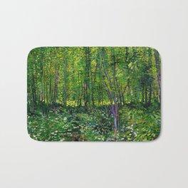 Vincent Van Gogh Trees and Undergrowth 1887 Bath Mat