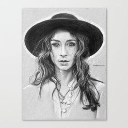 Troian Gray Sketch Canvas Print