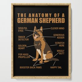 German Shepherd Anatomy Serving Tray
