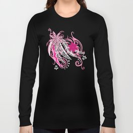 Pink Hawaii Tribal Threads Long Sleeve T-shirt