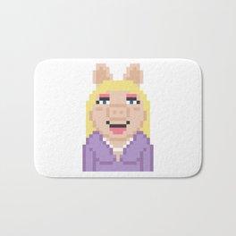 Miss Piggy The Muppets Pixel Character Bath Mat