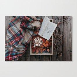 Marshmallows, Hot Chocolate, Autumn Canvas Print