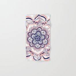 Woven Dream - Mandala in Pink, White and deep Purple Hand & Bath Towel