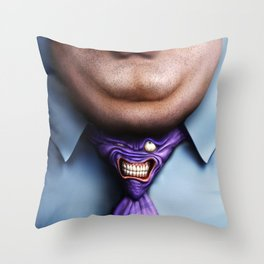Man Fat and Tie Throw Pillow