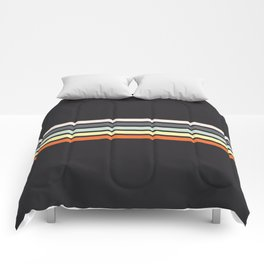 Colorful Stripes Black VIII Comforters