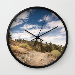 Hiking trail along Pacific Crest Trail in Southern California Wall Clock