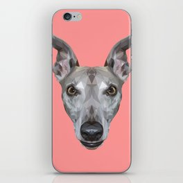 Whippet // Pink (Vespa) iPhone Skin