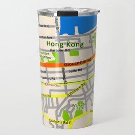 Hong Kong Map design Travel Mug