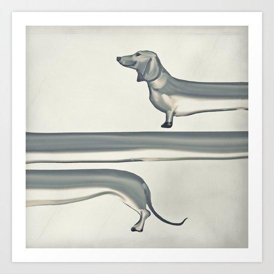 SAUSAGE DOG Art Print