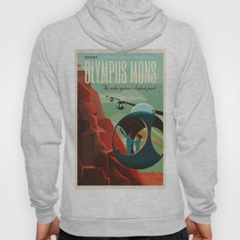 SpaceX Mars tourism poster / Olympus Mons Hoody