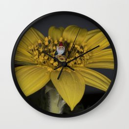 Gnome Flower Harvest Wall Clock