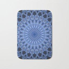 Cold blue mandala Bath Mat