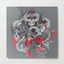 Qween Zodiac Metal Print