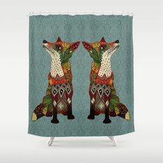 fox love juniper Shower Curtain