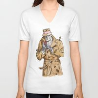rorschach V-neck T-shirts featuring Rorschach by Of Newts and Nerds