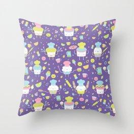 Tiny Chefs Throw Pillow