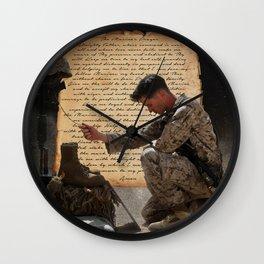 The Marine's Prayer Wall Clock