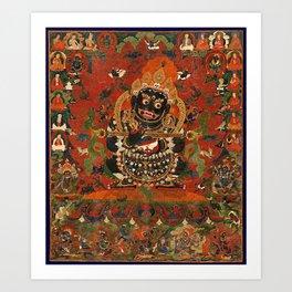 Vajrabhairava Buddhist God of Death 5 Art Print