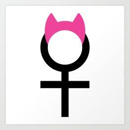 Women's March Pink Pussyhat Shirt Art Print