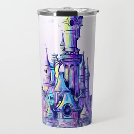Disneyland Paris Watercolour Castle Travel Mug
