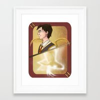 harry potter Framed Art Prints featuring Harry Potter by Imaginative Ink