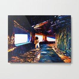 Astronaut on an Abandoned Ship Metal Print