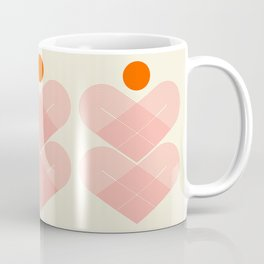 Abstraction_SUN_HEART_LINE_VISUAL_ART_Minimalism_001 Coffee Mug