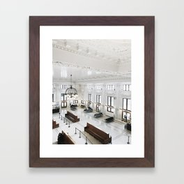 King Street Station Framed Art Print