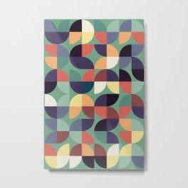 Mid century modern geometric shapes 22 Metal Print
