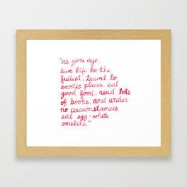 Nora Ephron Framed Art Print