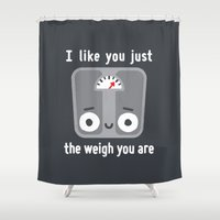 fitness Shower Curtains featuring Through Thick and Thin by David Olenick