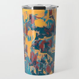 Amber Purple Forest Abstract Travel Mug