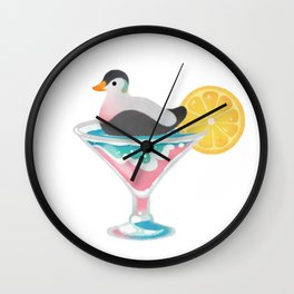 Summer cocktails Wall Clock