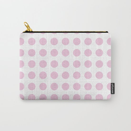 Simply Polka Dots in Blush Pink Carry-All Pouch
