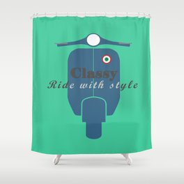 Classic Ride Scooter Shower Curtain