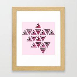 Pink Gradient Trillion Pattern Framed Art Print
