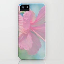 Tender macro shoot of pink hibiscus flowers iPhone Case